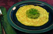 Ajo Crepes de huevo verde de espinaca con Pesto - huevos verdes verdaderos!