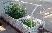 Yo riego jardín - con reciclado de agua de un acondicionador de aire