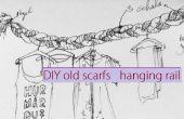 Bufandas viejas DIY colgante ferroviario