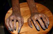 Las manos del cadáver