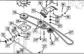 Correa de transmisión / ventilador de recambio Cub Cadet LTX1045