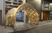 Diseño y fabricación de un pabellón de flexión activa
