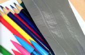 Caja de lápiz de cinta de conducto Simple fácil