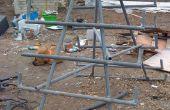 Construir un almacén de madera estante de esgrima desechos