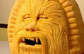 Carving a Chewbacca Pumpkin