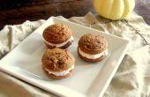 ¿Calabaza especia Whoopie Pies con Frosting de queso crema de canela