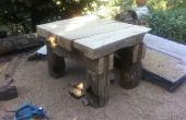 Gran mesa de roble