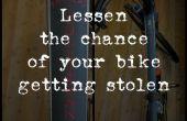Disminuir la posibilidad de su bicicleta conseguir robado