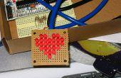 Arduino, el corazón de Charliplexed, justo a tiempo para el día de San Valentín.