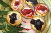 Cupcakes de tarta de queso de yogur griego