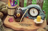 Bee creativa! ~ Cabecera oso reloj y lámpara