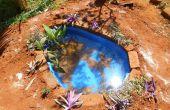 Construir un pequeño estanque en el jardín de