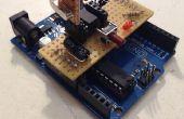 Arduino shield de ISP de attiny85/45 + depuración ayuda a