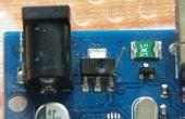 Fijar un Arduino que sólo funciona a través de USB (regulador quemado)