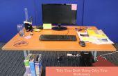 Poner en orden su escritorio utilizando solamente su papelería