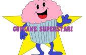 Súper-estrella Cupcake árbol
