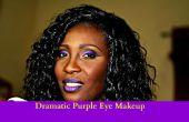 Hacer púrpura dramático look