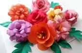 Flores de papel DIY (plegamiento trucos)