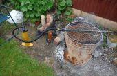 Rápido y sencillo patio/barbacoa fuelle