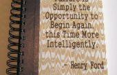 Reciclado diario con grabado cita de Henry Ford