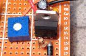 Un regulador de voltaje ajustable de cableado