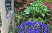 """Gota de lluvia púrpura"" arte cinético de llanta bici"