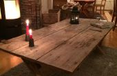 Mesa hecha de A 100 años antigua puerta