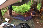 Durable, ligera y compactable paracord hamaca