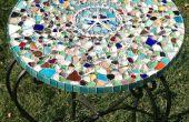 Mesa de mosaico de vidrio de mar
