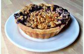 Blueberry melocotón Crumble Pie
