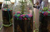 Planta en un frasco de vidrio