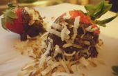 Ron de coco chocolate cubierto de fresas