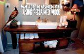 Hacer un tocador de baño personalizado con madera recuperada!