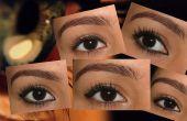 Lograr una forma diferente ojo con delineador de ojos...