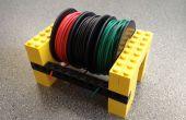 Mantener su hilo carretes ordenado con Legos