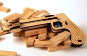 Pistola de Jenga corte láser madera