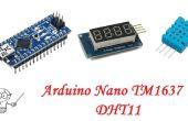 Arduino Nano TM1637 4 dígitos pantalla DHT11 temperatura Sensor de humedad