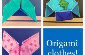 + 3-en-una origami chaqueta, pantalón y corsé