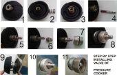 Instalar válvulas de olla a presión después de la limpieza