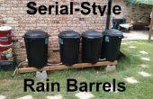 Serie estilo lluvia barriles