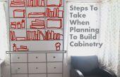 Pasos a seguir para construir gabinetes y estantes