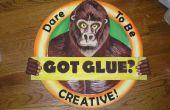 Un gorila 3D de cartón