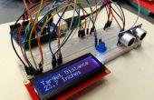 Medida de la distancia de Arduino Sensor ultrasónico LCD