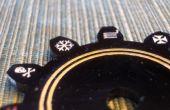 Mejora de láser paneles de acrílico grabado con pintura acrílica
