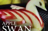 Hacer un cisne de manzana comestible!