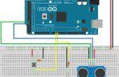 Medición de distancia con sensor ultrasonido HC-SR04 Arduino con el tiempo