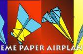 Colección de aviones de papel extremo