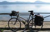 Bicicleta Camping en Japón-en una cinta de zapatos