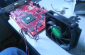 AMD CPU ventilador en una tarjeta de gráficos de PowerColor ATI Radeon X1650.