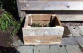 R.P.C.B (caja de Compost de palet reciclado)